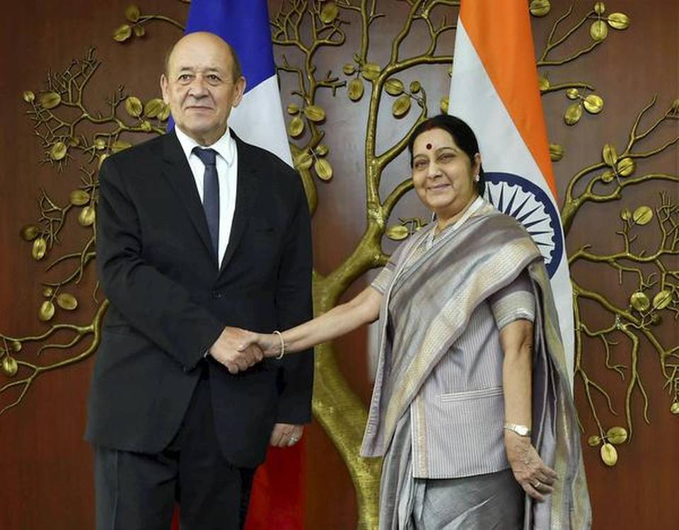sushma-swaraj-speaks-with-french-foreign-minister-on-anti-terror-cooperation