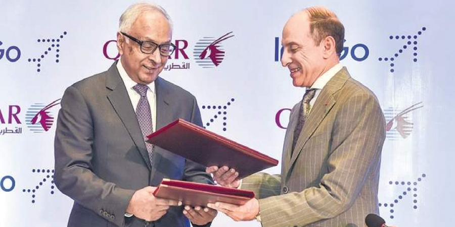indigo-signs-one-way-codeshare-deal-with-qatar